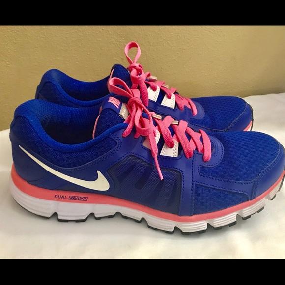 b8a23bcad463 Nike Dual Fusion St2 Women Running Shoes PB SZ 10